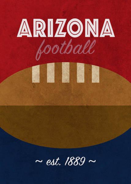 Wall Art - Mixed Media - Arizona Football Team Vintage Retro Poster by Design Turnpike