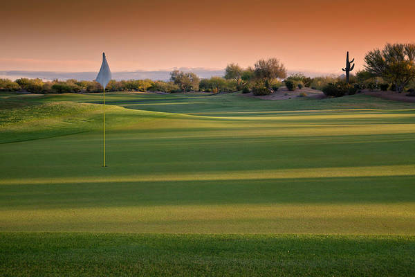 Photograph - Arizona Golf Course At Sunrise by Ishootphotosllc