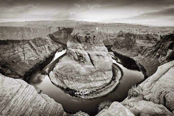 Photograph - Arizona Horseshoe Bend Sepia Morning by Gregory Ballos