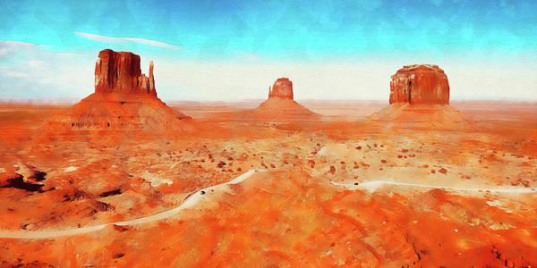 Painting - Arizona Landscape - 04 by Andrea Mazzocchetti