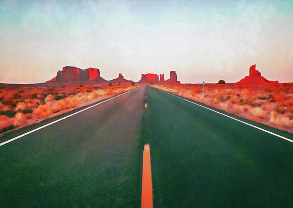 Painting - Arizona Landscape - 05 by Andrea Mazzocchetti