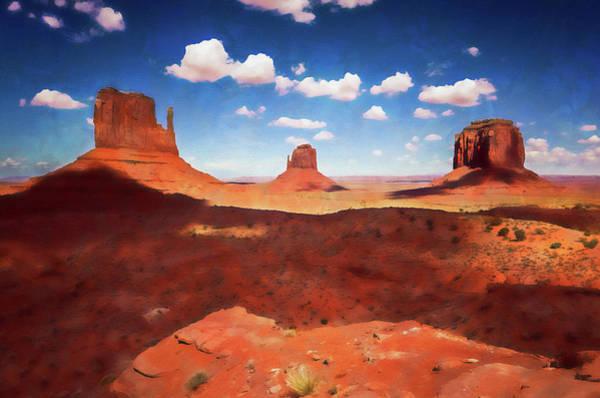 Painting - Arizona Landscape - 07 by Andrea Mazzocchetti