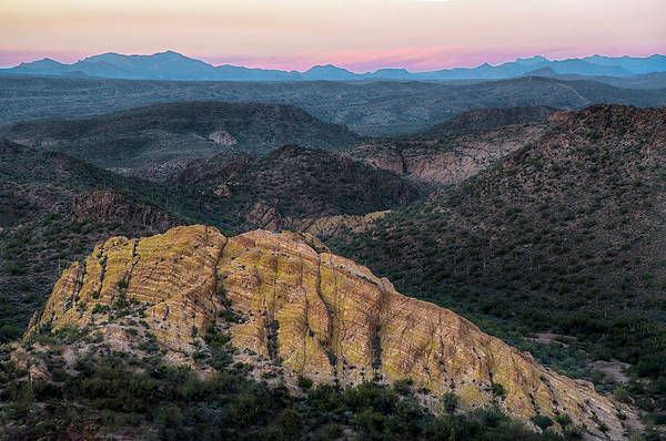 Photograph - Arizona Rocky Landscape At Sunset by Dave Dilli