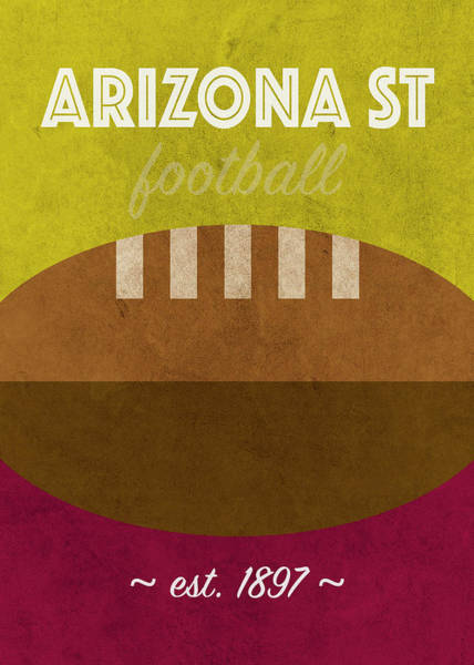 Wall Art - Mixed Media - Arizona State Football Team Vintage Retro Poster by Design Turnpike