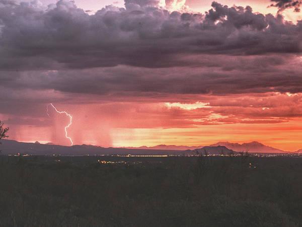 Photograph - Arizona Sunset Lightning  by Chance Kafka