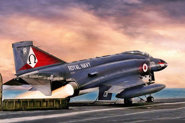 Wall Art - Digital Art - Ark Royal Thunder by Peter Chilelli