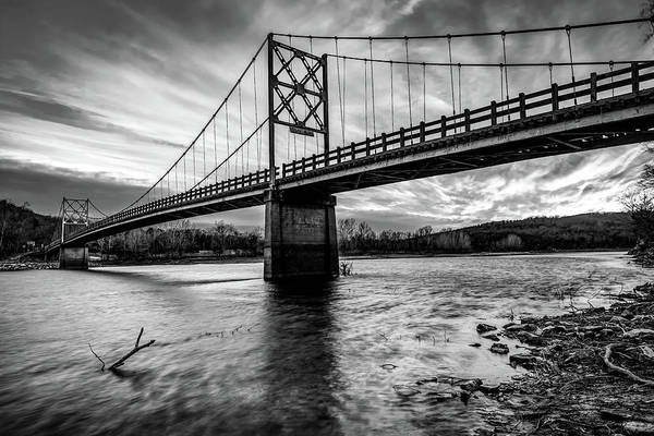 Eureka Springs Photograph - Arkansas Beaver Bridge Over The White River - Monochrome by Gregory Ballos