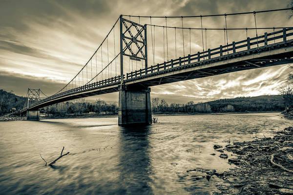 Photograph - Arkansas Beaver Bridge Over The White River - Sepia by Gregory Ballos