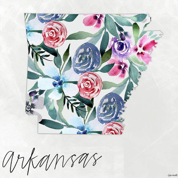 Wall Art - Mixed Media - Arkansas by Katie Doucette