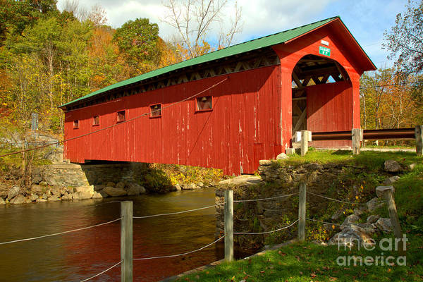 Photograph - Arlington Green Covered Bridge by Adam Jewell