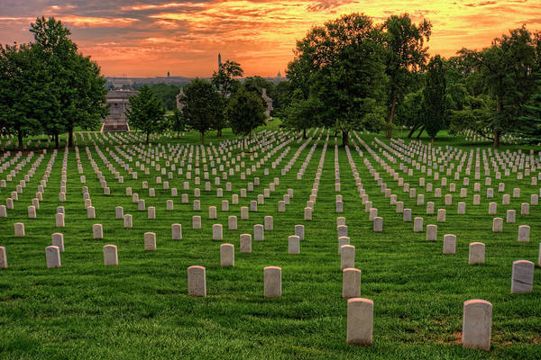 Department Of Defense Photograph - Arlington National Cemetery Sunrise by Craig Fildes