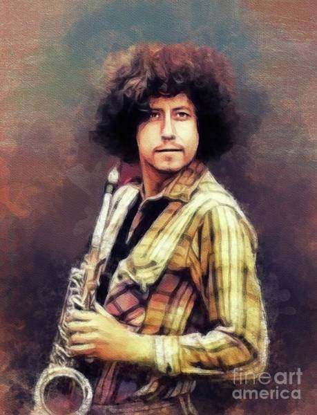 Wall Art - Painting - Arlo Guthrie, Music Legend by John Springfield