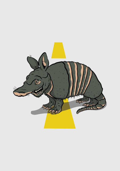 Tx Wall Art - Painting - Armadillo by Scotty Roller