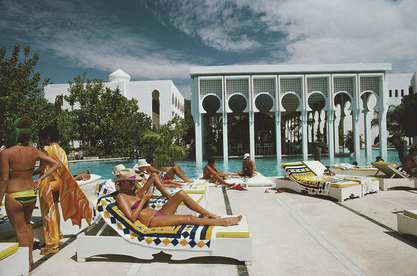 Lounge Chair Photograph - Armandos Beach Club by Slim Aarons