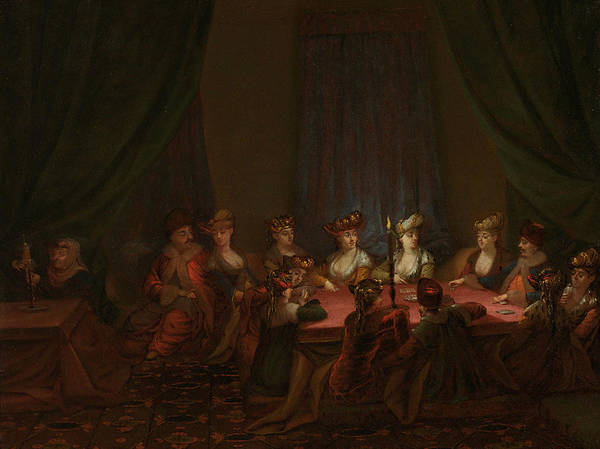 Painting - Armenian Company At The Card Game by Jean Baptiste Vanmour