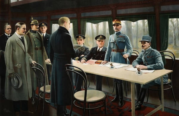 Wall Art - Painting - Armistice Of 11 November 1918 - Wwi by War Is Hell Store