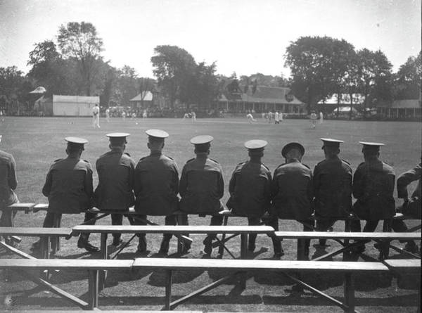 People Watching Photograph - Army Cricket by A Hudson
