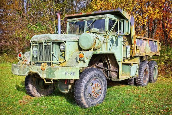 Heavy Duty Truck Wall Art - Photograph - Army Dump Truck M817 by Marcia Colelli