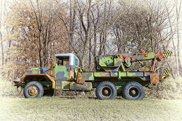 Heavy Duty Truck Wall Art - Photograph - Army Tow Truck M816 by Marcia Colelli