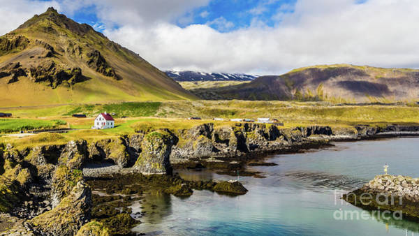 Photograph - Arnarstapi And Mount Stapafell, Iceland by Lyl Dil Creations