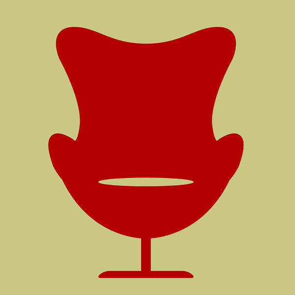 Wall Art - Digital Art - Arne Jacobsen Egg Chair I by Naxart Studio