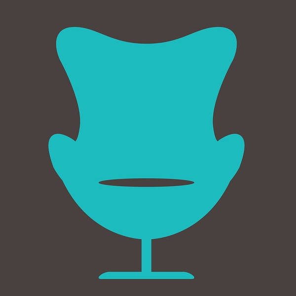 Wall Art - Digital Art - Arne Jacobsen Egg Chair  by Naxart Studio