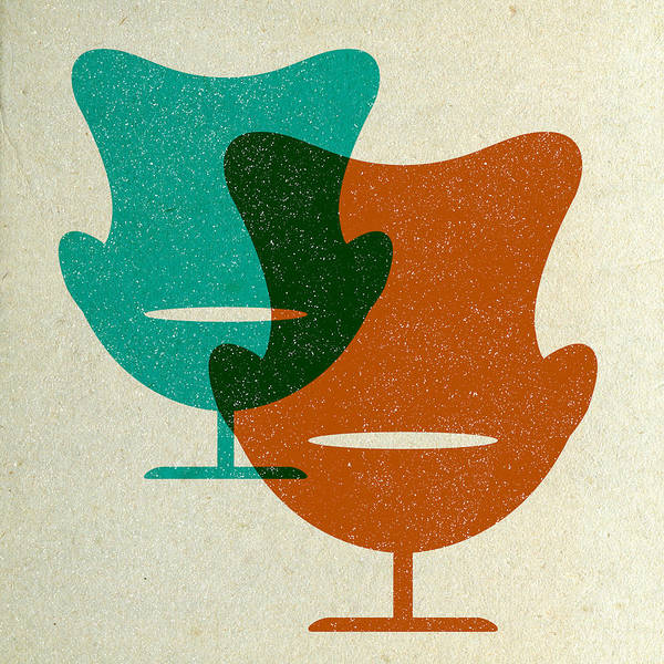 Wall Art - Digital Art - Arne Jacobsen Egg Chairs II by Naxart Studio