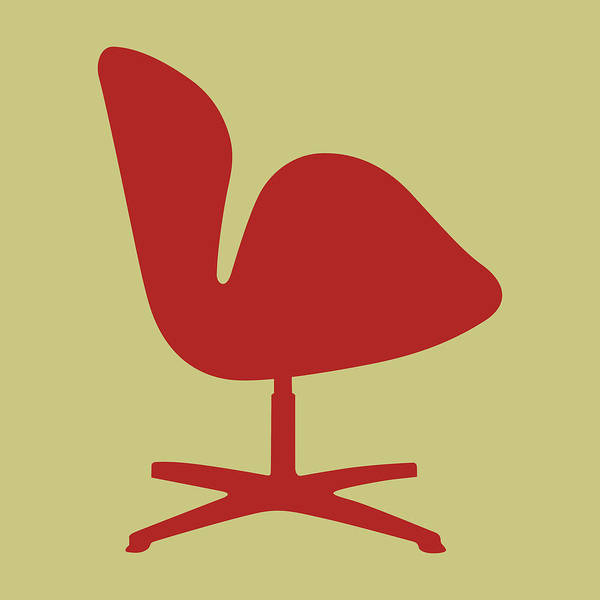 Wall Art - Digital Art - Arne Jacobsen Swan Chair I by Naxart Studio