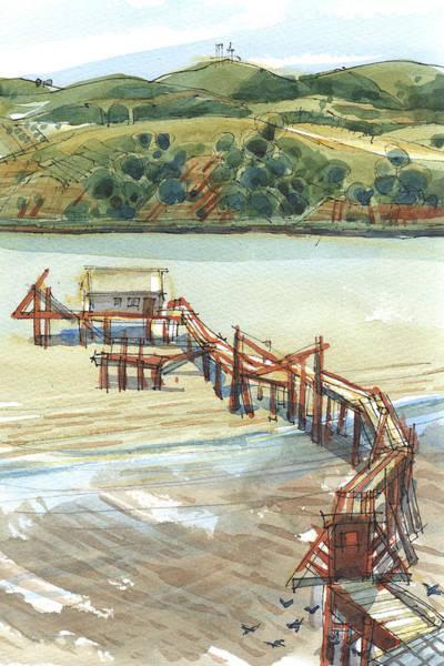 Painting - Arneson Park Pier Benicia by Judith Kunzle