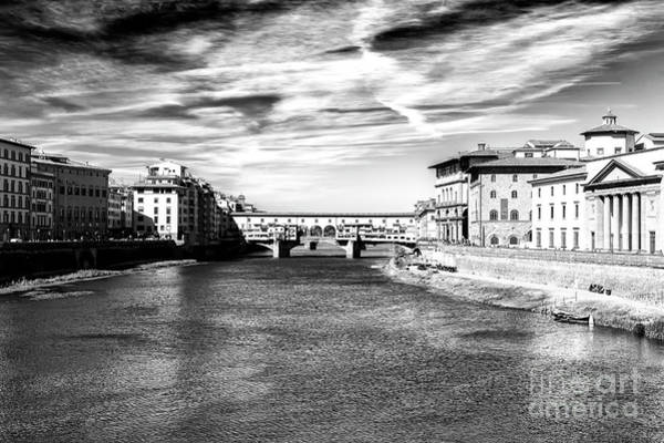 Photograph - Arno River View In Florence by John Rizzuto
