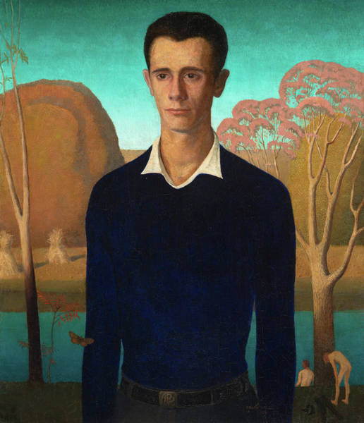 Wall Art - Painting - Arnold Comes Of Age, Portrait Of Arnold Pyle, 1930 by Grant Wood