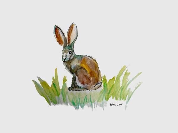 Painting - Arogs Rabbit by Ahonu
