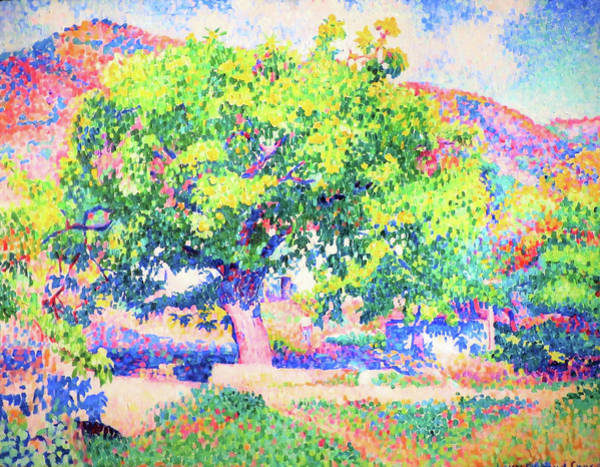 Wall Art - Painting - Around My House, Near A House - Digital Remastered Edition by Henri Edmond Cross