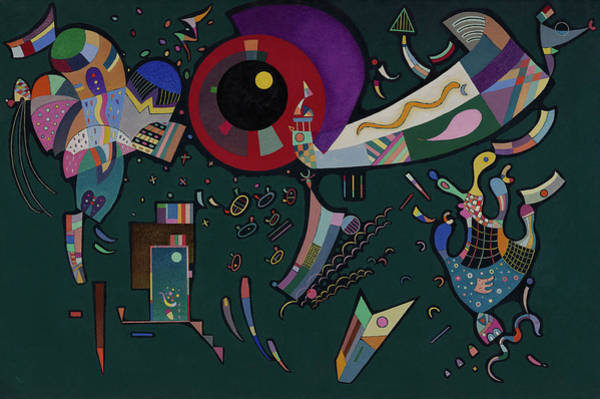 Wassily Kandinsky Painting - Around The Circle - Autour Du Cercle, 1940 by Wassily Kandinsky