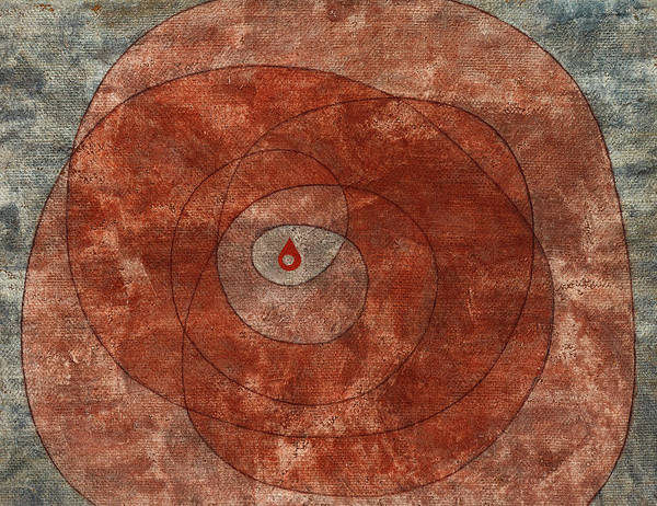 Wall Art - Painting - Around The Core by Paul Klee