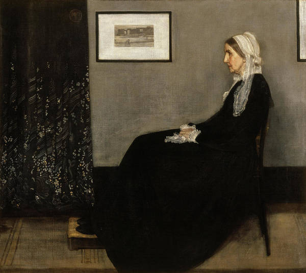 Wall Art - Painting - Arrangement In Grey And Black No.1, Whistler's Mother, 1871 by James Abbott McNeill Whistler
