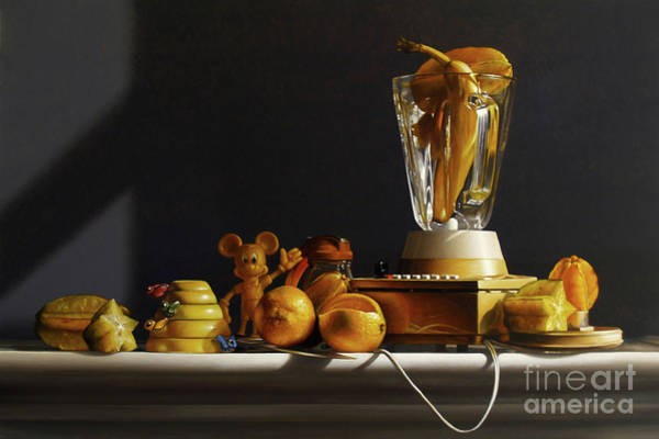Measure Wall Art - Painting - Arrangement In Yellow by Lawrence Preston