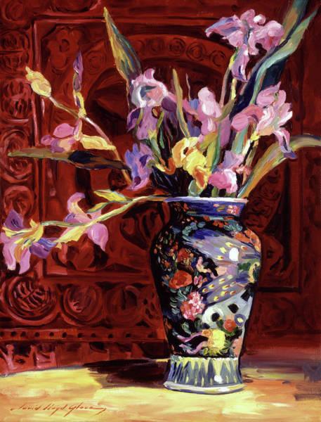 Painting - Arrangement Of Irises by David Lloyd Glover