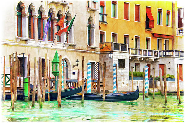 Wall Art - Painting - Arrival In Venice by Delphimages Photo Creations