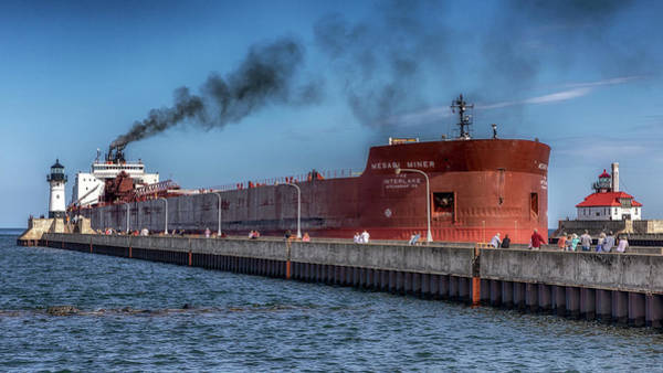 Photograph - Arrival Of Mesabi Miner  by Susan Rissi Tregoning