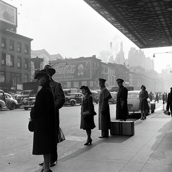 Arrival Photograph - Arriving Train Station Passengers by William C. Shrout