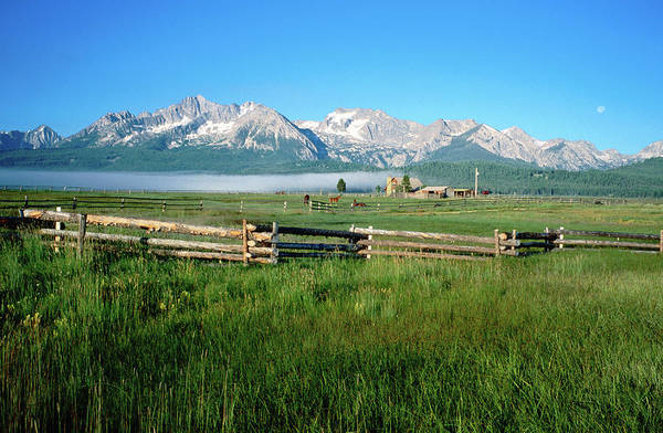 Ranch Photograph - Arrow A Ranch And Sawtooth Mountains by Holger Leue