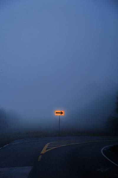 Photograph - Arrow In Fog by Bud Simpson