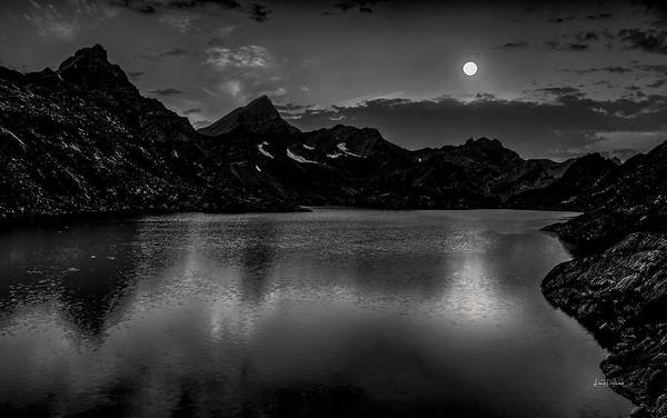 Photograph - Arrowhead Lake Moonlight by Leland D Howard