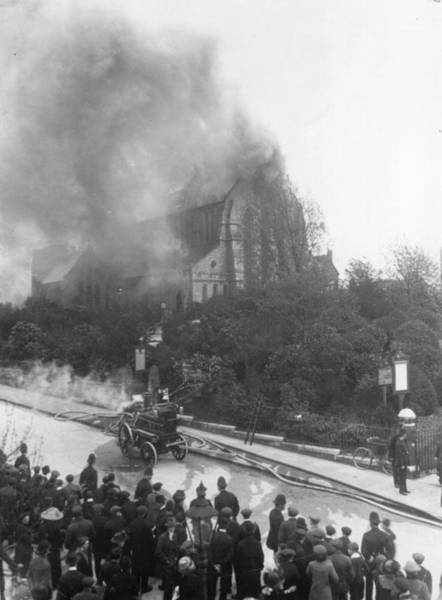 Inferno Wall Art - Photograph - Arson Attack by Hulton Archive
