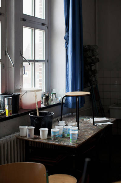 Mixing Photograph - Art And  Crafts Room In School by Benne Ochs