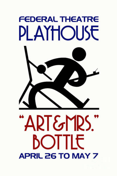 Drawing -  Art And Mrs Bottle Retro Theatre by Aapshop