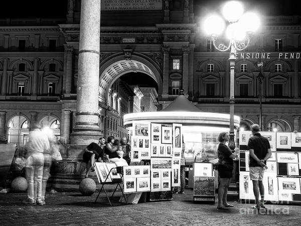 Photograph - Art At Night Florence by John Rizzuto