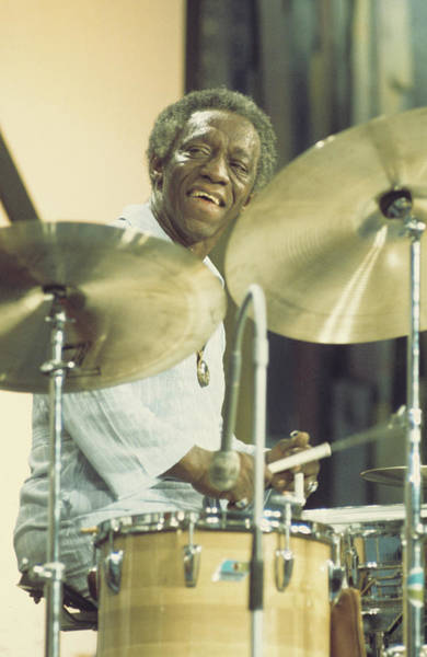 Wall Art - Photograph - Art Blakey Performs On Stage In Montreux by Andrew Putler