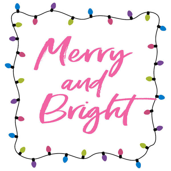 Bright Digital Art - Merry And Bright -art By Linda Woods by Linda Woods